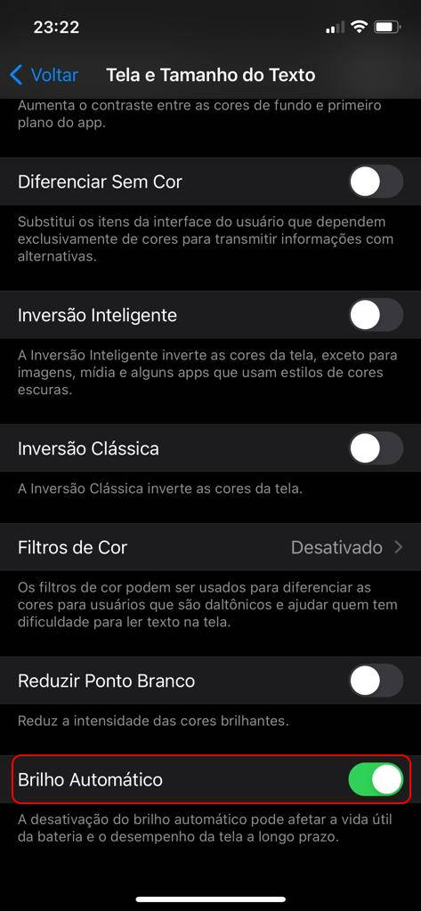 Brilho automático iPhone 3